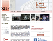 Website for Syracuse University in Florence (SUF) Italy