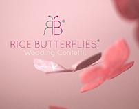 RICE BUTTERFLIES Wedding Confetti