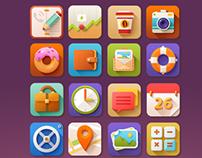 5 O'clock Shades Icon Set