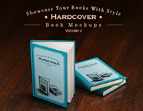 Hardcover Book Mockups - mega pack