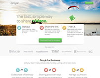 Droplr uninvited redesign