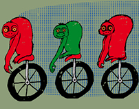 Monkeys on unicycle