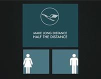 Lufthansa. Make Long Distance Half The Distance