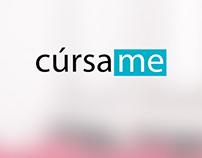 Cúrsame - Landing page