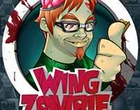 Wing Zombie Mascot Design