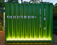 Green mobile restrooms