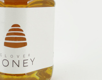 Pure Clover Honey Packaging