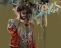 Graffiti Man | printed tee design