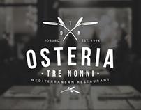 Osteria Tre Nonni - Logo Design by Angus Ewing