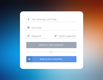 Flat UI: Sign Up Form