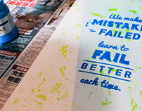 Embracing Mistakes: Inspirational Poster °4