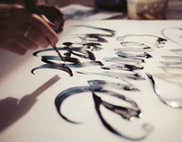 Calligraphy backstage