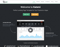Katemi - Product and App Landing Page