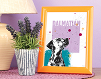 Dog Breed Posters - Personal Work