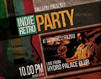 Indie Retro Party Flyer / Poster