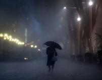 Braving the Night Rain