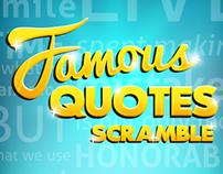 Famous Quotes Scramble