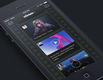 Dark/Night Mode of Vimeo App