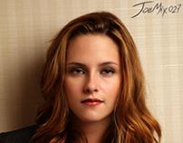 Kristen Stewart digital retouch & makeup