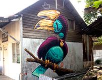 Giant Hornbill, Pangkor Island 2013