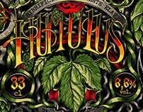 Humulus Beer - label design