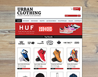 Urban Clothing Store HTML/CSS Template Design