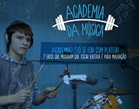 "Infográfico ""Academia da Música - Bateria"" - Credeal"