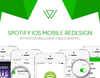 Spotify iOS Mobile Redesign by Wellgraphic