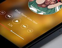 IOS 7 Music app mockup