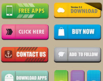 Free Buttons for click, app, download...