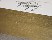 Gold Foil Edged Business Cards