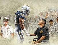 Chargers - Salute to Service Display Poster