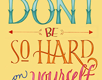 Lettering | Don't be so hard on yourself