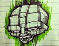 cube head sketch