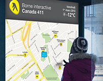 411 Yellow Pages Interactive bus stop
