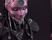 Female Robot Bust