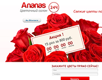 Landing page for flowers delivery service