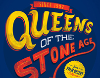 Queens of the stone age gig poster