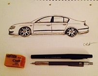 B6 Passat Sketch