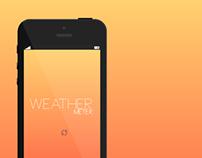 Weather Meter (Iphone App Concept)