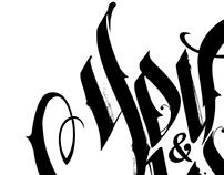 /// Black & white Calligraphy ///