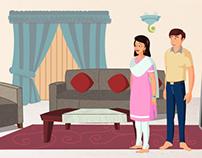 ESPN / Bharti AXA - animated commercials