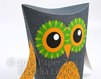 Halloween Owl Party Favor Treat Box