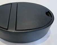 Oval Leather Box