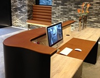 Leather Reception Desk