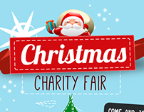 Poster for Christmas charity fair