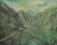 soft pastels norwegian fjords