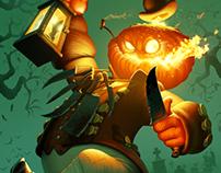 Jack-O'-Lantern illustration