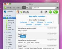 Skype 5 for Mac Redesign