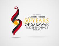 Sarawak 50th Independence Logo Design